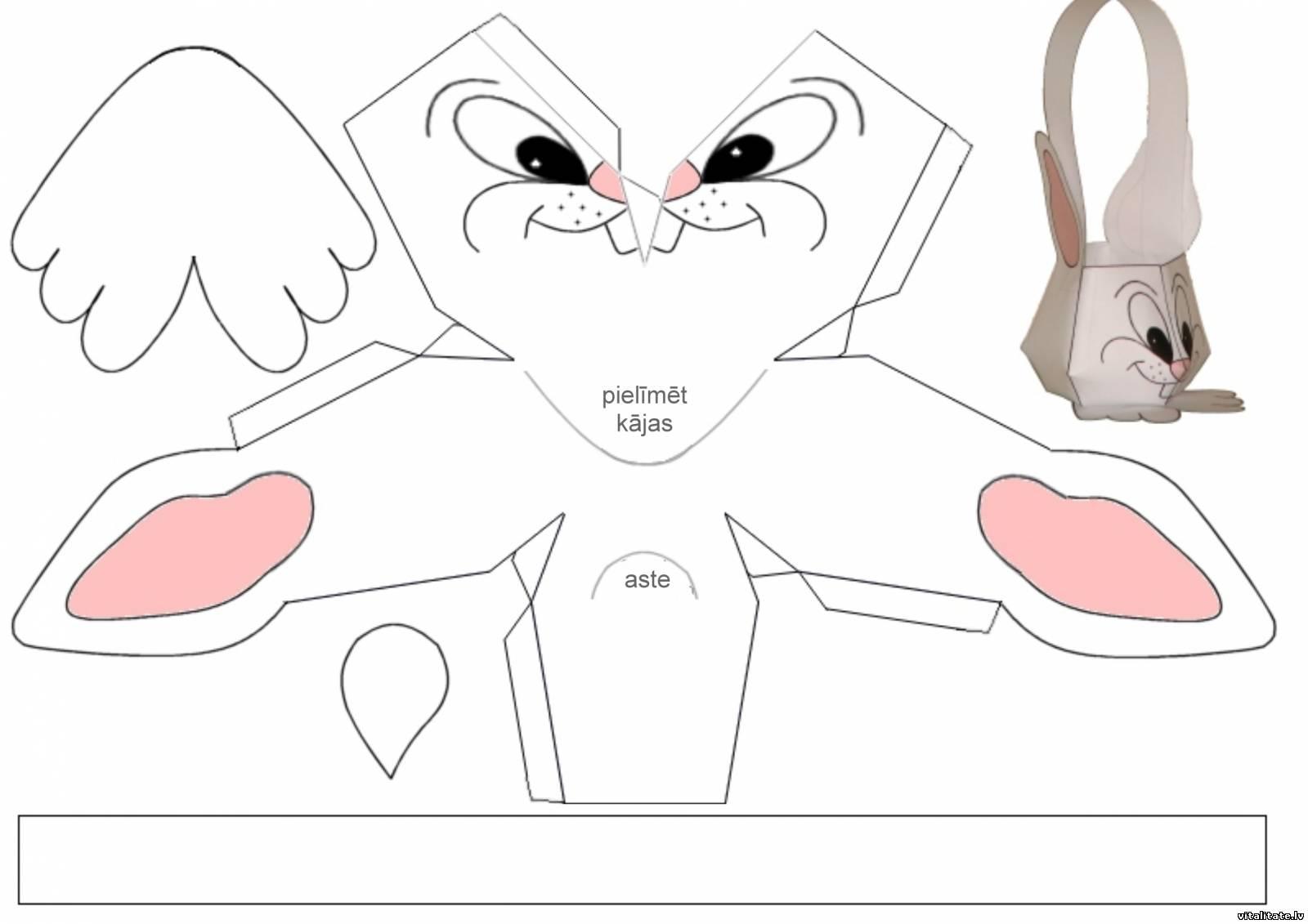 Как сделать из бумаги кролика